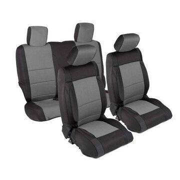 Smittybilt Neoprene Front and Rear Seat Cover Kit (Black/Gray) - 471422