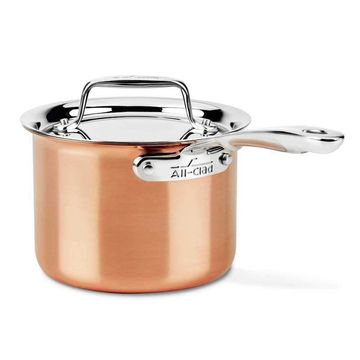 All-Clad c4 Copper Saucepan with Lid - 2 qt.