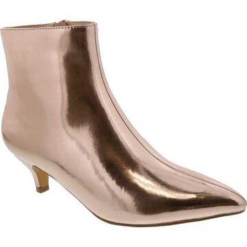 Penny Loves Kenny Women's Dizzy Bootie Rose Gold Mirrored Metallic