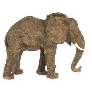 A&B Home Walking Elephant Figurine In Brown