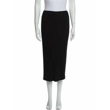 Vintage Midi Length Skirt Black