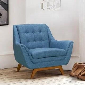 Armen Living Janson Mid-Century Sofa Chair (Blue)