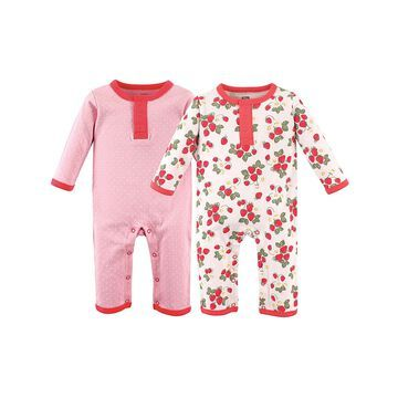 Hudson Baby Girls' Rompers Strawberries - Strawberries Union Playsuit Set - Infant