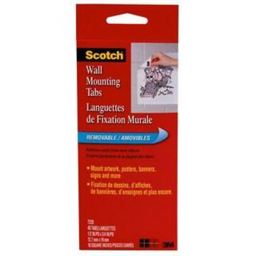 Scotch Wall Mounting Tabs, 1/2
