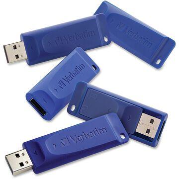 Verbatim Classic USB Drive 8GB 5/PK Blue 99121