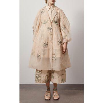 Simone Rocha - Women's Embellished Organza Sculpted Coat - Neutral - Moda Operandi
