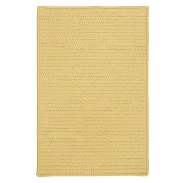 Colonial Mills Simply Home Solid Indoor Outdoor Rug, Yellow, 5Ft Sq