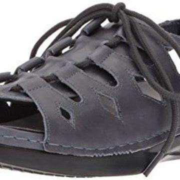 Propet Women's Ghillie Walker Sandal, Blue, 10.5 Medium US