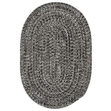 Colonial Mills Laffite Tweed Indoor Outdoor Rug, Black, 3X5 Ft
