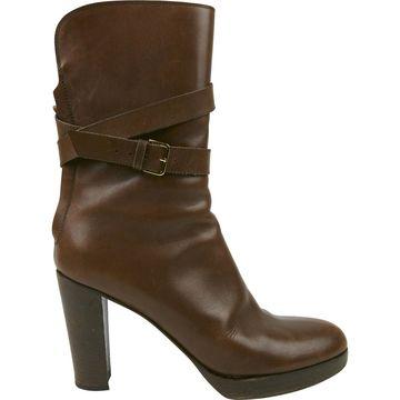 Loro Piana Brown Leather Boots