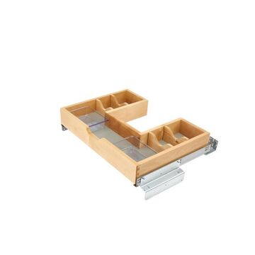 Rev-A-Shelf 27.56-in W x 6.5-in H 1-Tier Pull Out Wood Soft Close Baskets & Organizers