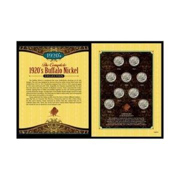 American Coin Treasures Complete 1920's Buffalo Nickel Collection