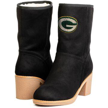Women's Green Bay Packers Cuce BlackSideline Stacked Heel Boots