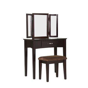 Furniture of America Paloma Espresso Vanity Set
