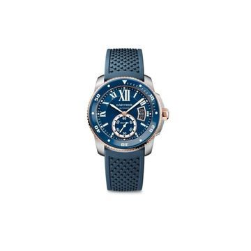 Cartier Men's W2CA0009 'Calibre De Cartier' Blue Rubber Watch