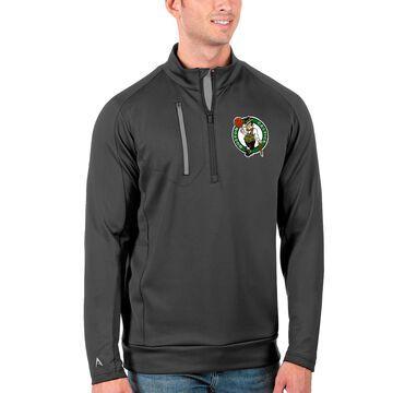 Men's Antigua Charcoal Boston Celtics Generation Quarter-Zip Pullover Jacket