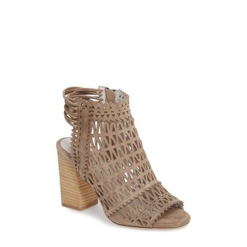 Jeffrey Campbell Womens Ottawa Leather Peep Toe Casual Strappy