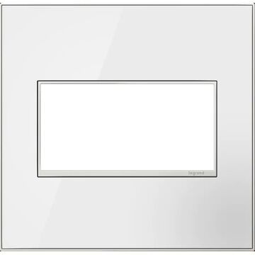 Legrand adorne 2-Gang Mirror White On White Square Screwless Specialty Wall Plate | AWM2GMWW4