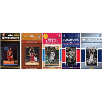 C&I Collectables NBA Brooklyn Nets 5 Different Licensed Trading Card Team Sets