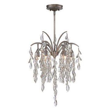Metropolitan Bella Flora 6-Light Pendant in Silver Mist