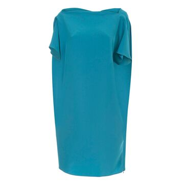Gianluca Capannolo Judy Relaxed Dress Boat Neck Blue