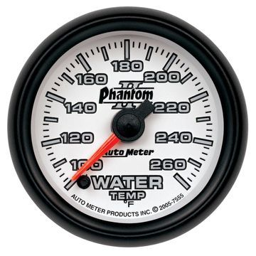 AutoMeter 7555 Phantom II Electric Water Temperature Gauge