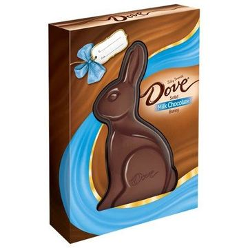 DOVE Solid Milk Chocolate Bunny, Easter candy, 12oz.