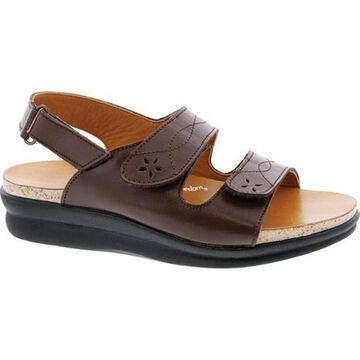 Drew Women's Bella Adjustable Strap Sandal Tan Leather