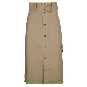 Bottega Veneta Heavy Striped Selvedge Skirt