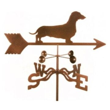 Ez Vane Dachshund Dog Weathervane With Four Sided Mount