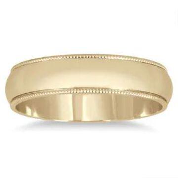 Marquee Jewels 14k Yellow Gold 4-millimeter Milgrain Edge Comfort-fit Wedding Band (9.5)