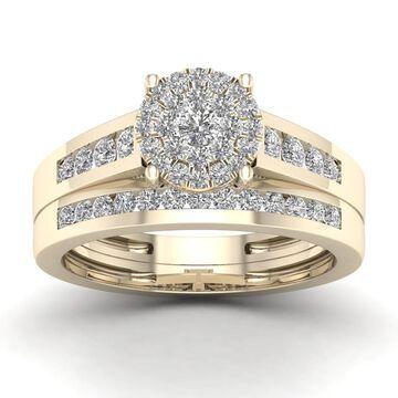 De Couer 3/4ct TDW Diamond Cluster Bridal Sets