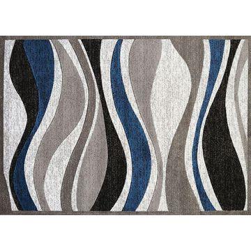 United Weavers Studio Silica Waves Rug, Blue, 2X7 Ft