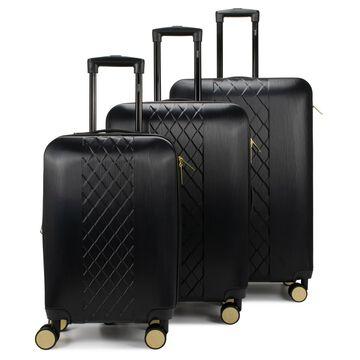 Badgley Mischka Diamond 3 Piece Expandable Luggage Set