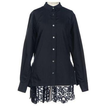 Sacai Black Polyester Tops