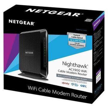 NETGEAR Nighthawk AC1900 WiFi DOCSIS 3.0 Cable Modem Router (C7000)