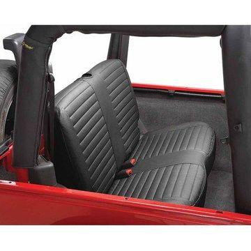 Bestop 29229-35 Jeep Wrangler Rear Bench Seat Cover, Black Diamond