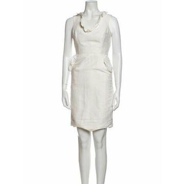 Scoop Neck Mini Dress White