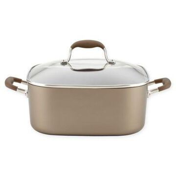 Anolon Advanced Nonstick 7 qt. Hard-Anodized Covered Square Dutch Oven in Umber