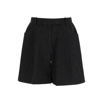 SIMONE ROCHA EMBROIDERED SCULPTED SHORTS 8 Black