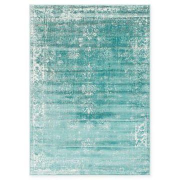Unique Loom Casino Sofia 7' x 10' Area Rug in Turquoise