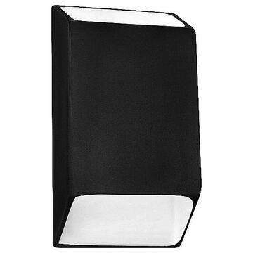 Justice Design Group Ambiance Tapered Rectangle Open Top and Bottom LED Wall Sconce - Color: Black - Size: Small - CER-5865-BKMT