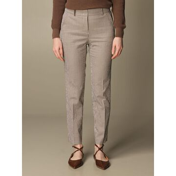 Peserico trousers in micro-striped cotton blend