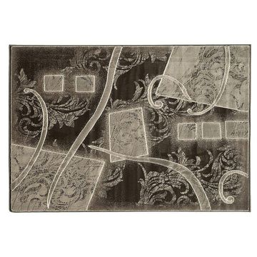 Linon Jewel Abstact Rug, White, 5X7.5 Ft