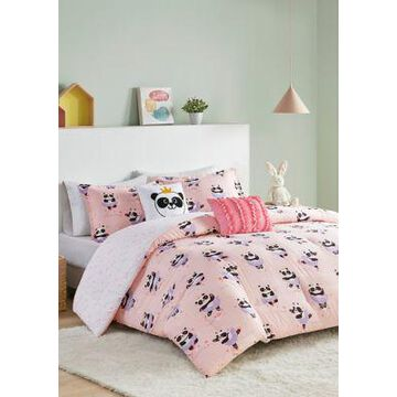Jla Home Piper Ballerina Panda Reversible Comforter Set - -