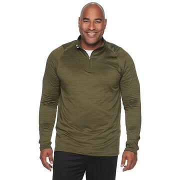 Big & Tall Tek Gear Grid Fleece Quarter-Zip Pullover
