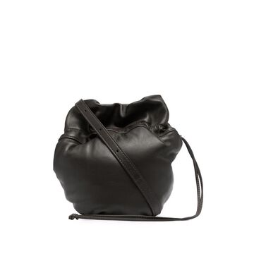 drawstring leather crossbody bag