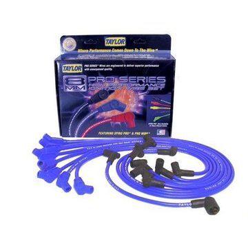 Taylor Wire / Vertex 74604 TAY74604 8MM SPIRO-PRO CUSTOM 8 CYL BLUE