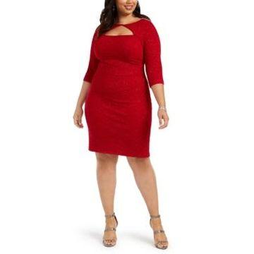 Alex Evenings Plus Size Cutout Sheath Dress