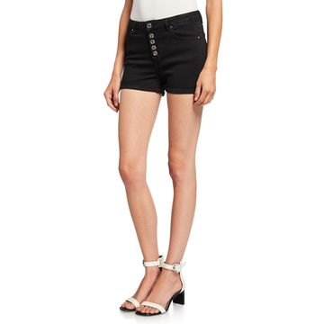 High-Rise Button-Fly Cutoff Shorts